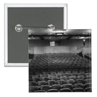 Theater Seating Black White Photo 2 Inch Square Button