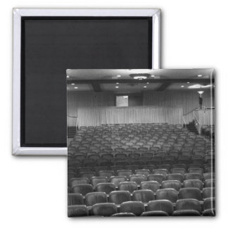 Theater Seating Black White Photo 2 Inch Square Magnet