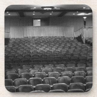 Theater Seating Black White Photo Beverage Coasters