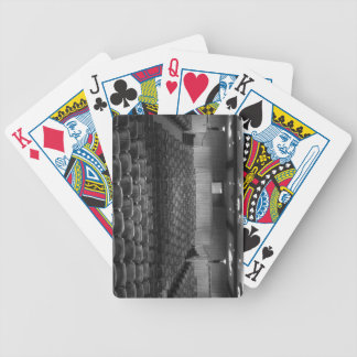 Theater Seating Black White Photo Bicycle Playing Cards