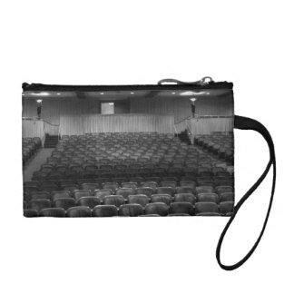 Theater Seating Black White Photo Change Purses