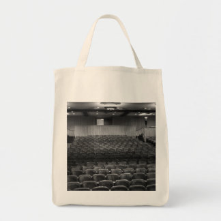 Theater Seating Black White Photo Grocery Tote Bag