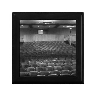 Theater Seating Black White Photo Keepsake Box