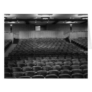 Theater Seating Black White Photo Large Greeting Card