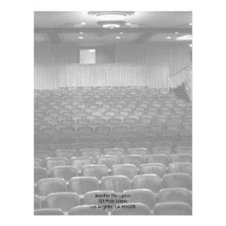 Theater Seating Black White Photo Letterhead