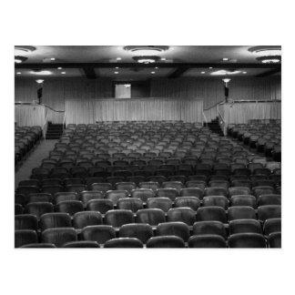 Theater Seating Black White Photo Postcard