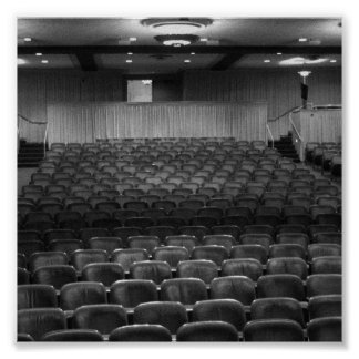 Theater Seating Black White Photo Poster