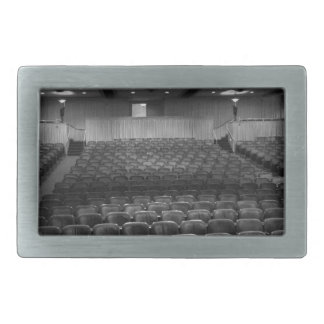 Theater Seating Black White Photo Rectangular Belt Buckles