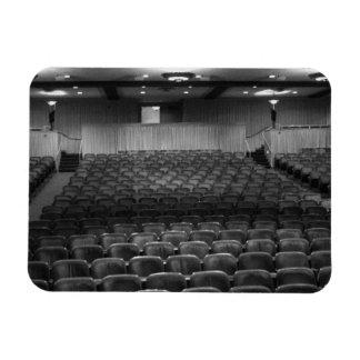 Theater Seating Black White Photo Rectangular Photo Magnet