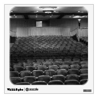 Theater Seating Black White Photo Room Decal