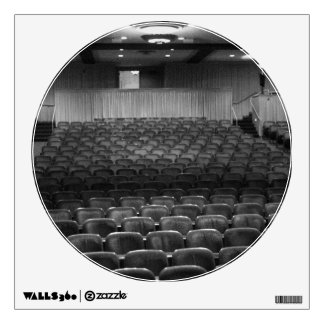 Theater Seating Black White Photo Room Sticker