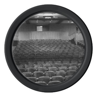 Theater Seating Black White Photo Set Of Poker Chips
