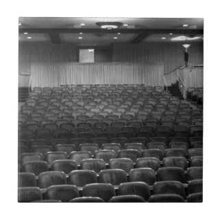 Theater Seating Black White Photo Small Square Tile