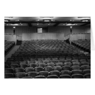 Theater Seating Black White Photo Stationery Note Card