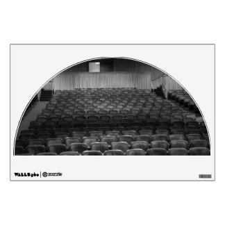 Theater Seating Black White Photo Wall Decal