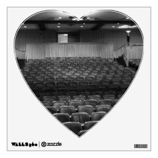 Theater Seating Black White Photo Wall Decals