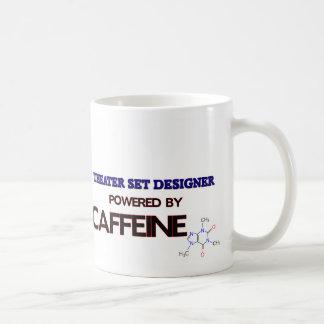Theater Set Designe Powered by caffeine Coffee Mugs