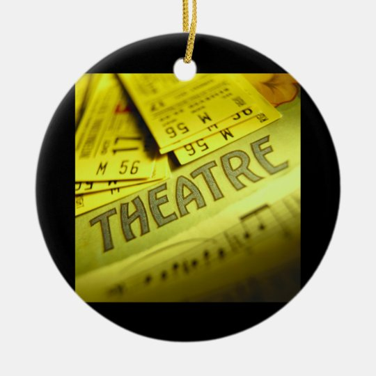 Theater Sheet Music & Tickets Ceramic Ornament