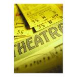 Theater Sheet Music & Tickets Custom Announcement