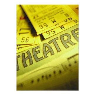 Theater Sheet Music Tickets Invites