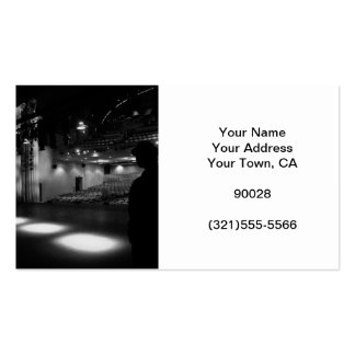 Theater Stage Black White Photo Double-Sided Standard Business Cards (Pack Of 100)