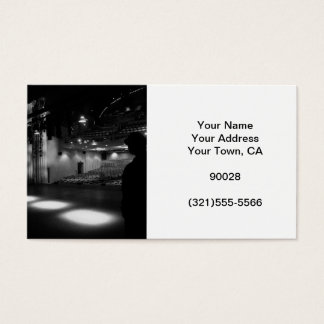 Theater Stage Black White Photo Business Card