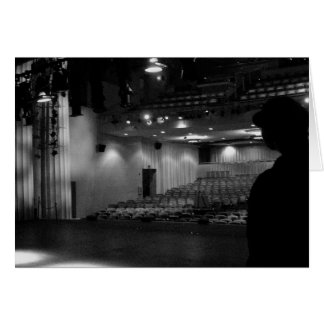 Theater Stage Black White Photo Card