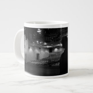 Theater Stage Black White Photo Giant Coffee Mug
