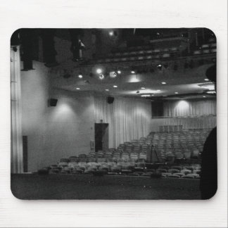 Theater Stage Black White Photo Mouse Pad
