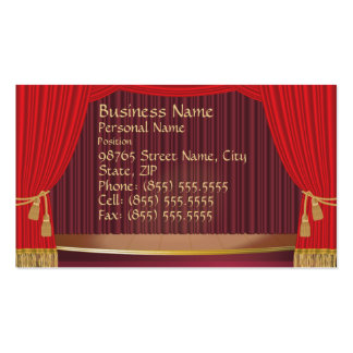 Theater Stage Business Card