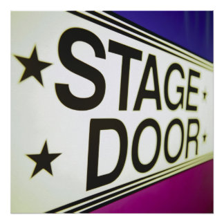 Theater Stage Door Sign