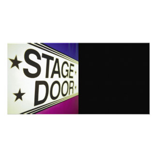 Theater Stage Door Sign Picture Card
