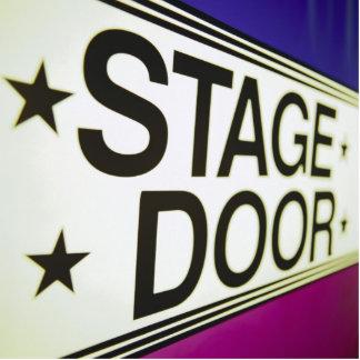 Theater Stage Door Sign Statuette