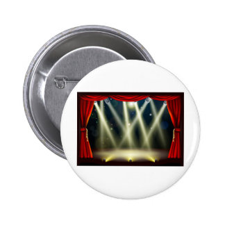 Theater stage lights pinback buttons