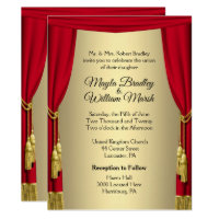 Theater Wedding Theme Invitation