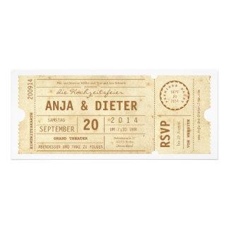 Theaterkarte Hochzeitseinladung Invitación