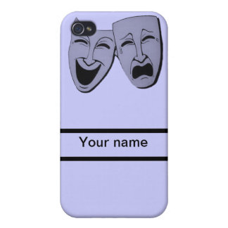 theatre acting customize name & choose background iPhone 4 cases