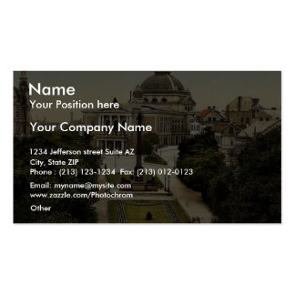 Theatre and Promenade, Halle, German Saxony, Germa Double-Sided Standard Business Cards (Pack Of 100)