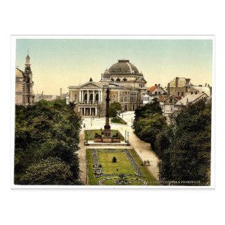 Theatre and Promenade, Halle, German Saxony, Germa Post Cards