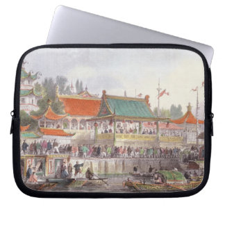 Theatre at Tien-Sing, from 'China in a Series of V Laptop Sleeve