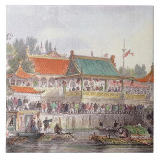 Theatre at Tien-Sing, from 'China in a Series of V Tile