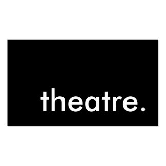 theatre. Double-Sided standard business cards (Pack of 100)