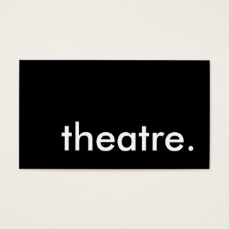 theatre. business card