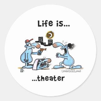 Theatre Classic Round Sticker