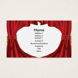 Theatre curtains business card design