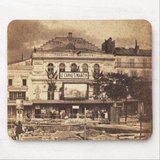 Théâtre de la Gaîté Boulevard du Temple Paris 1855 Mouse Pads