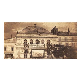 Théâtre de la Gaîté Boulevard du Temple Paris 1855 Personalized Photo Card