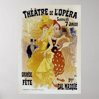 ~ Theatre de L'Opera de Julio Cheret Poster
