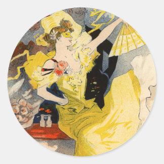 Theatre de l'Opera, Jules Chéret Round Sticker