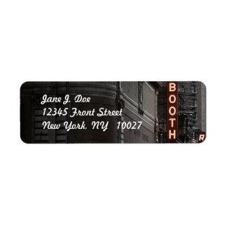 Theatre district New York City NY Address Label